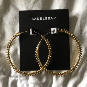 NWT Baublebar gold hoop earrings